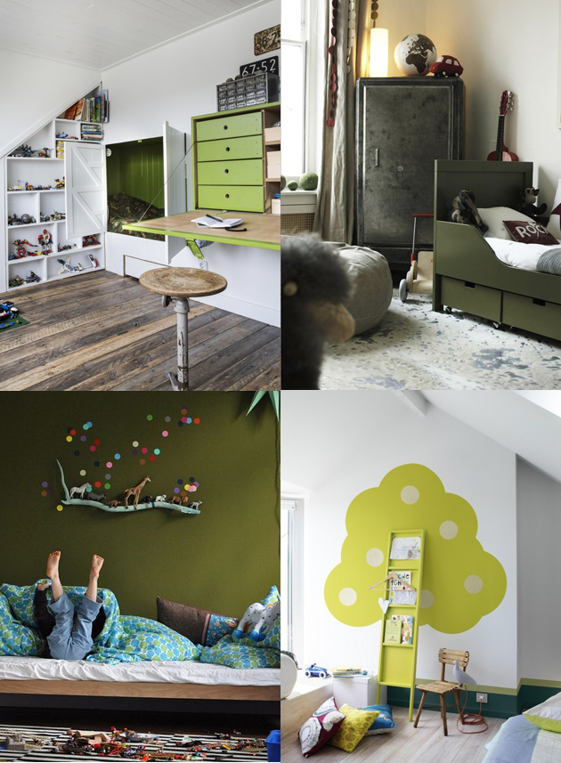 green kids bedrooms