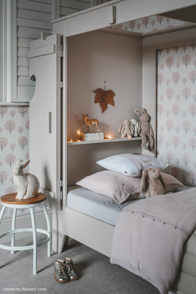 Girl 39 s bedroom design a room for charlotte room to bloom for Interior design bedroom grey