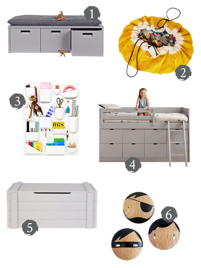 clever storage for kids how to de-clutter