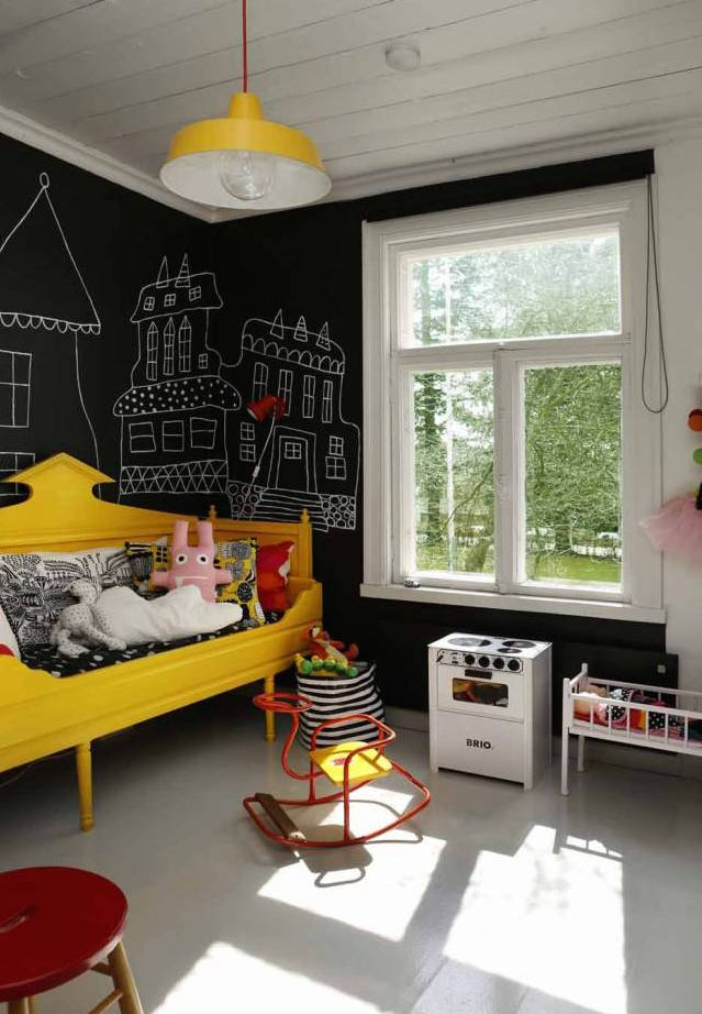 blackboard chalkboard wall kids room 1