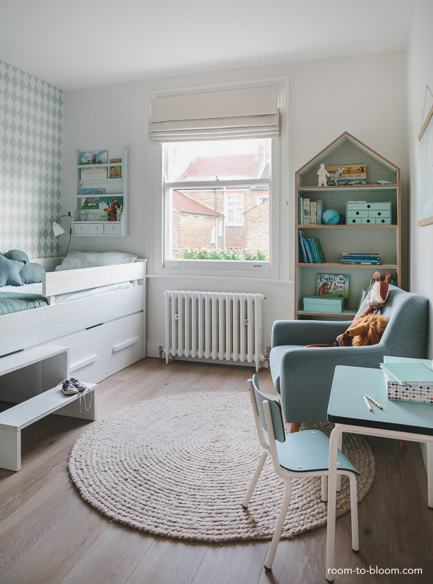 childrens interior design scandinavian mint and blue girls room florence 1