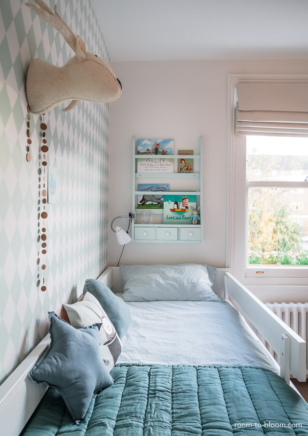 childrens interior design scandinavian mint and blue girls room florence 3