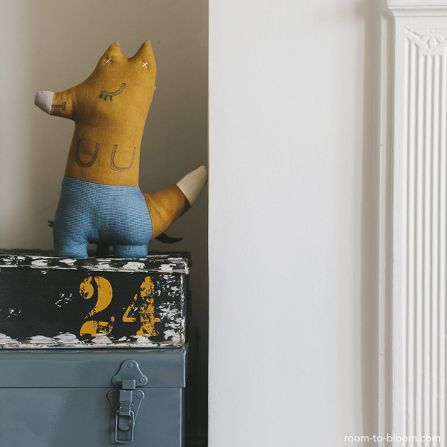 grey and yellow kids bedroom