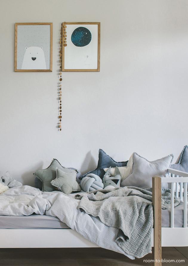 Scandinavian kids room grey
